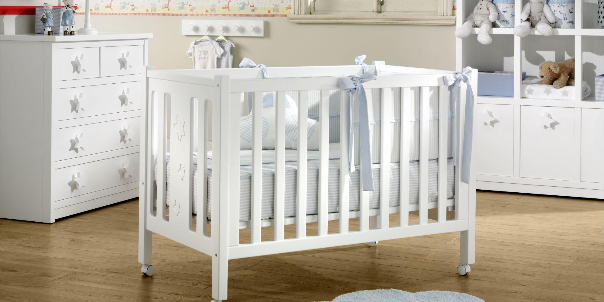 Cuna, cómoda de 3 cajones y librero estancia ideal para el confort de su bebe | Mueble de Bebé