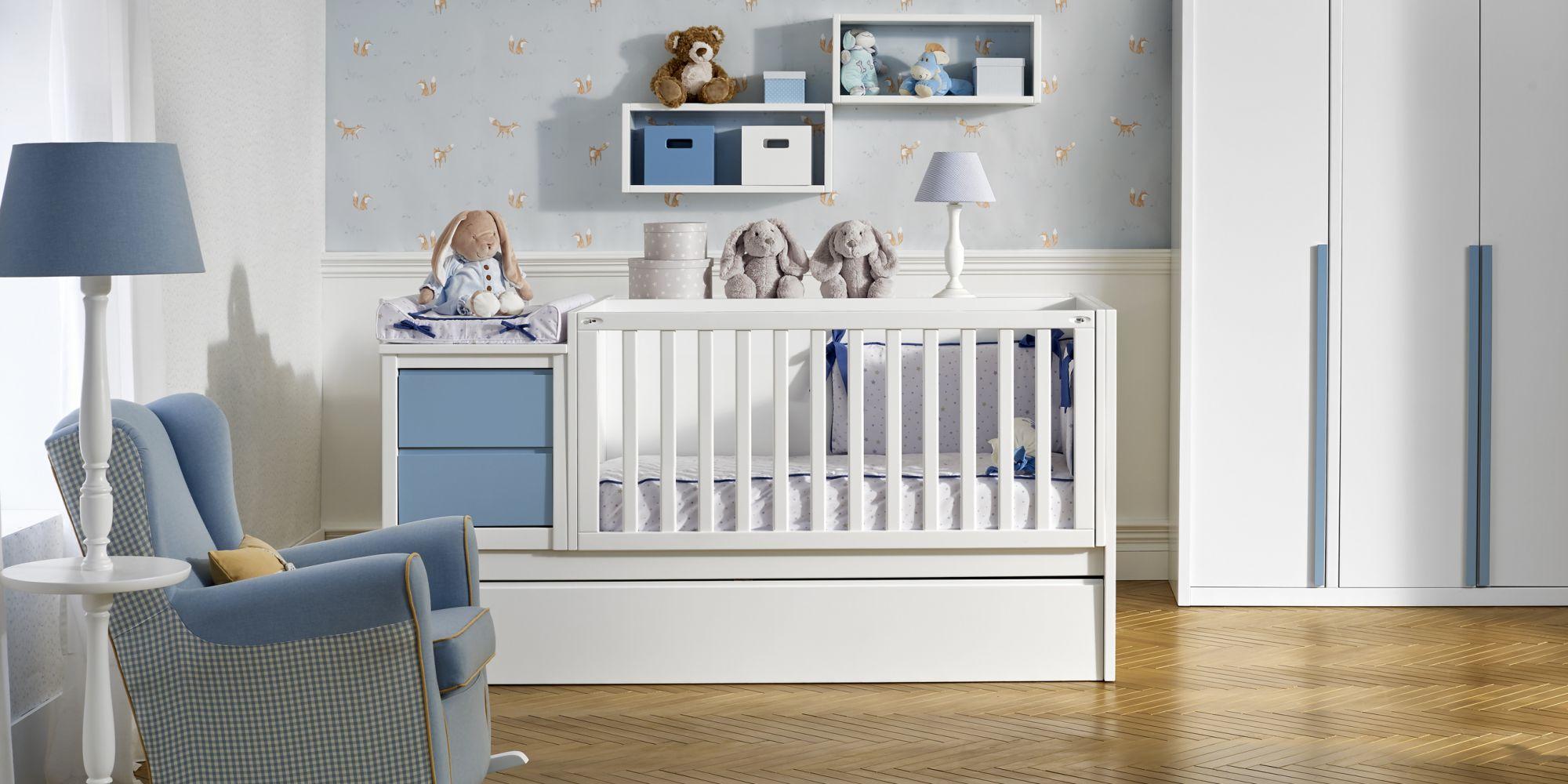Convertible ideal para el descanso y confort de su bebe mas armario con amplio almacenaje | Mueble de Bebé