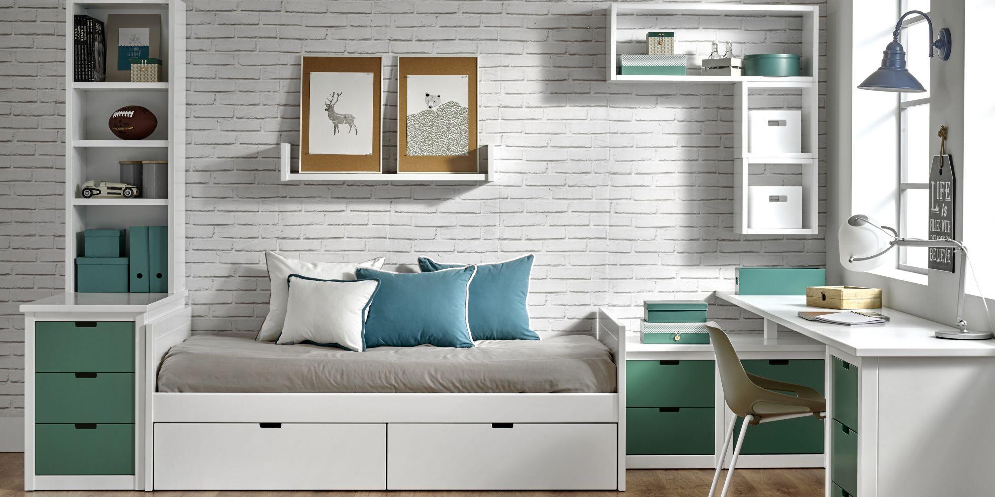 Nido con 2 cajones y zona de estudio ideal para habitación juvenil | Mueble Juvenil