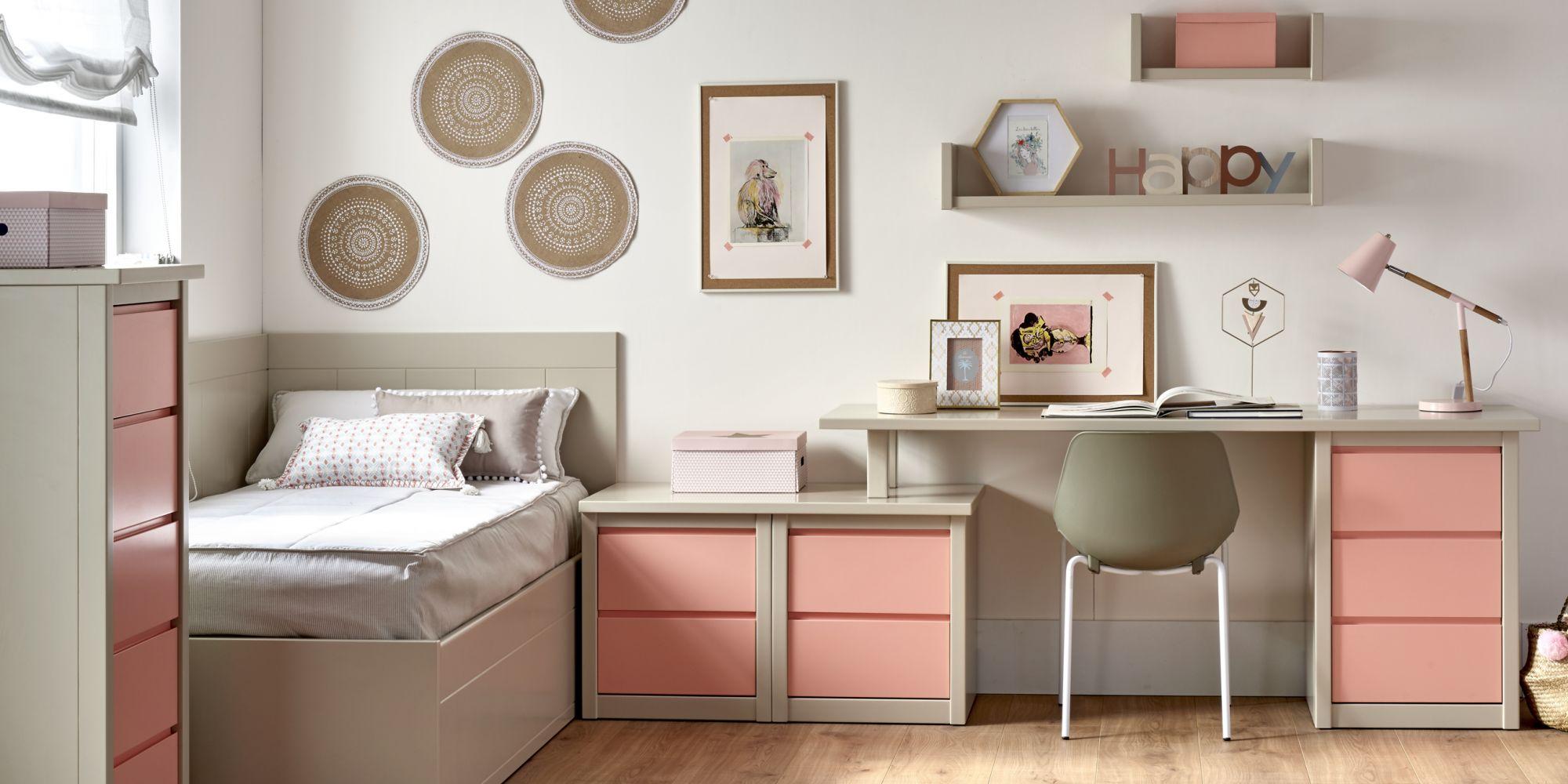 Nido con cama elevable y zona de estudio para habitación juvenil | Mueble Juvenil