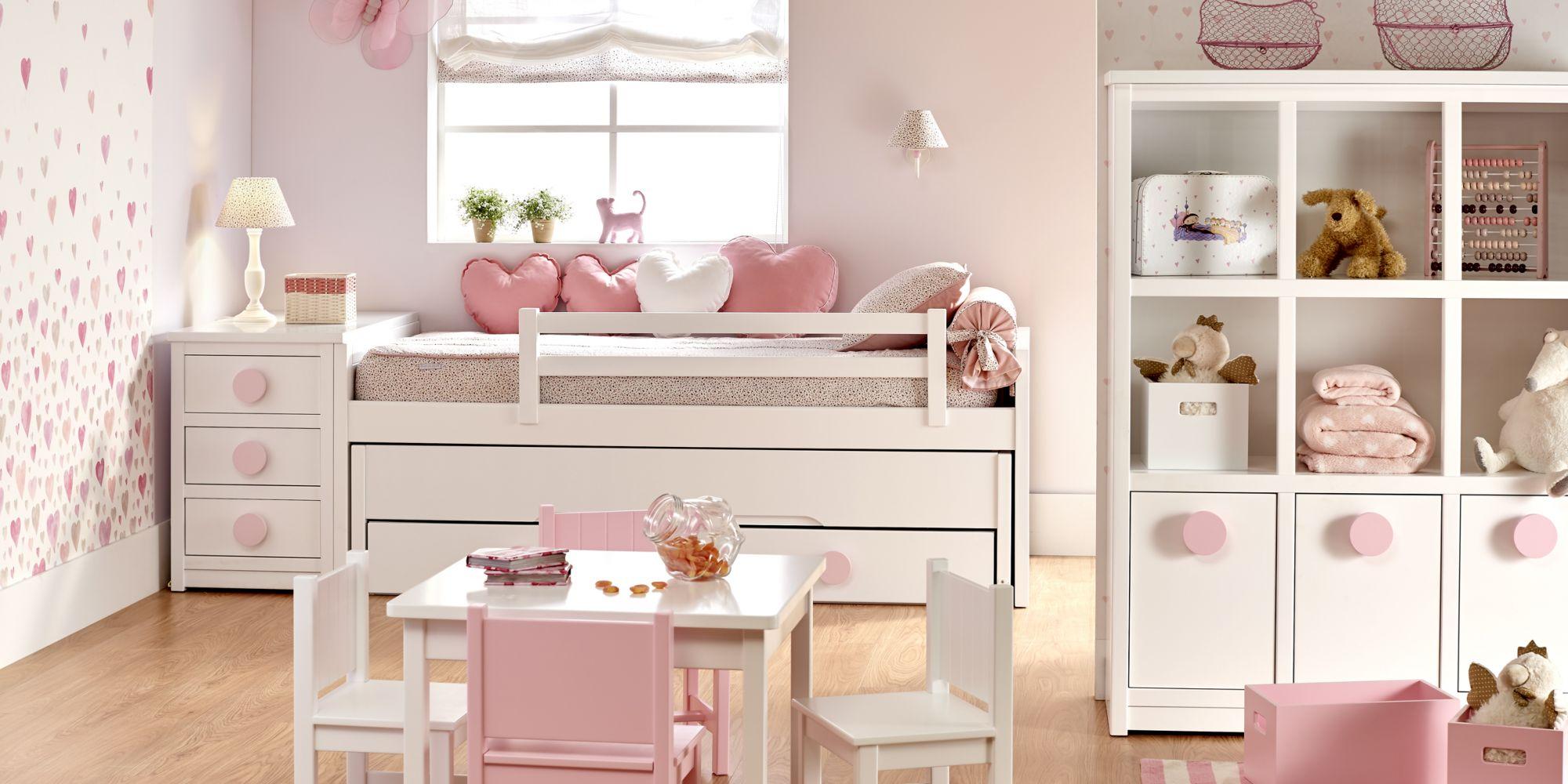 Minicompacto con 2 camas, auxiliar de cajones y librero ideal para habitaciones infantiles   Mueble Infantil