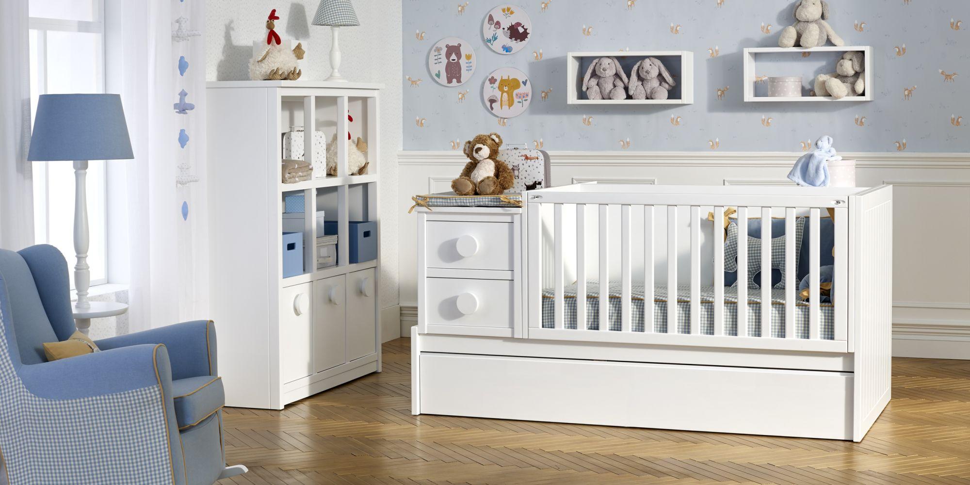 Convertible ideal para el descanso y confort de su bebe mas cómoda con amplio almacenaje | Mueble de Bebé