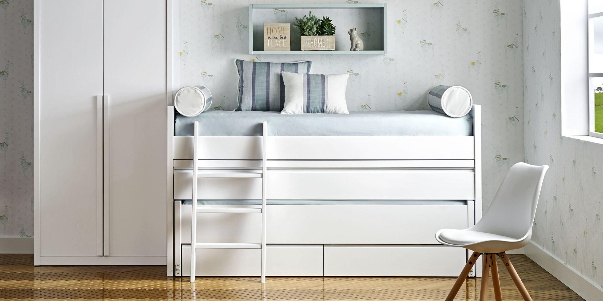 Cama compacta con escritorio incorporado