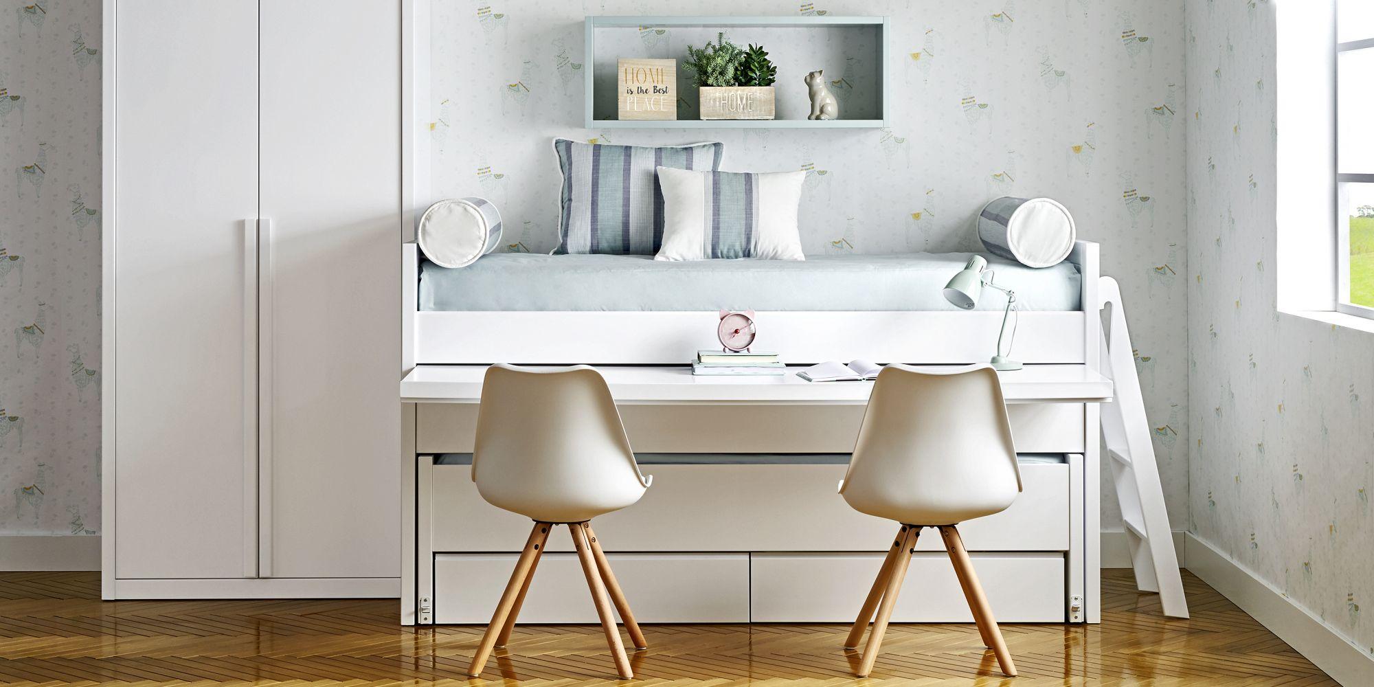 Cama con escritorio incorporado y armario