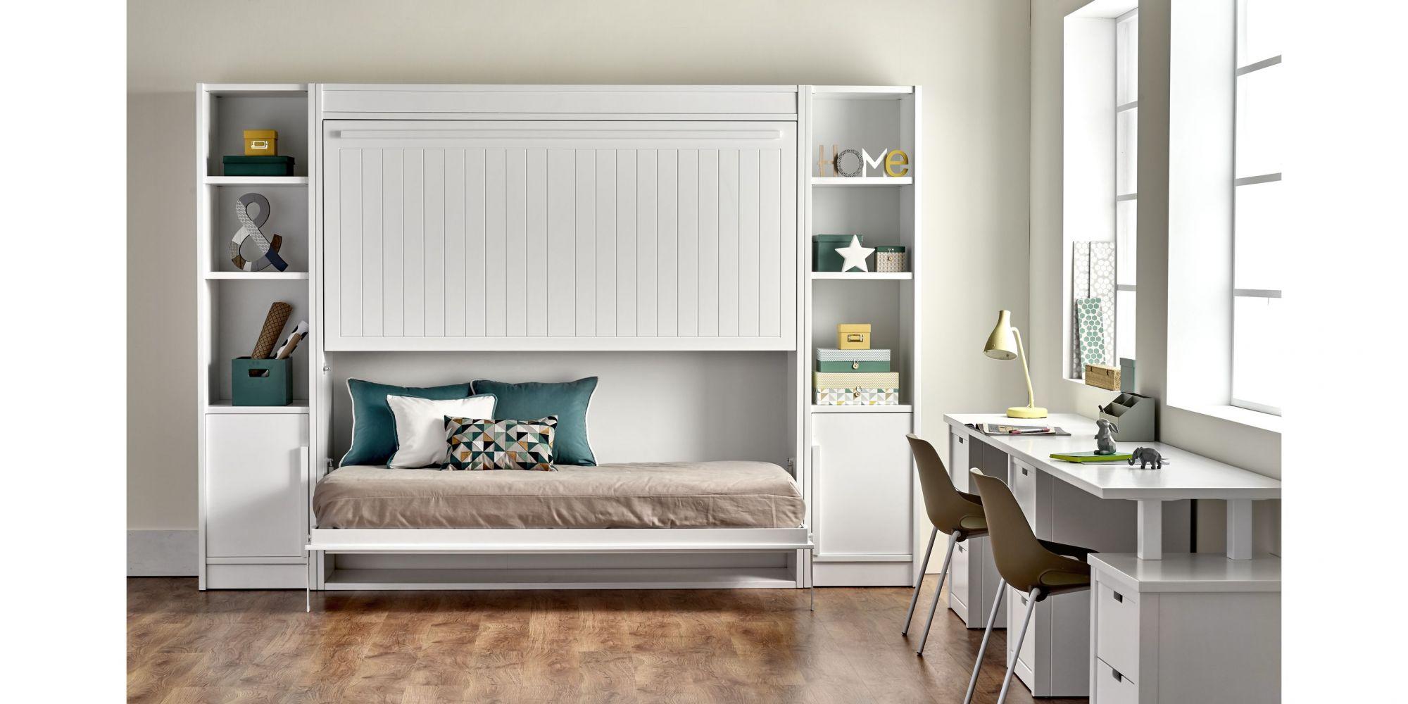Litera abatible con 2 camas para habitación juvenil  | Mueble Juvenil