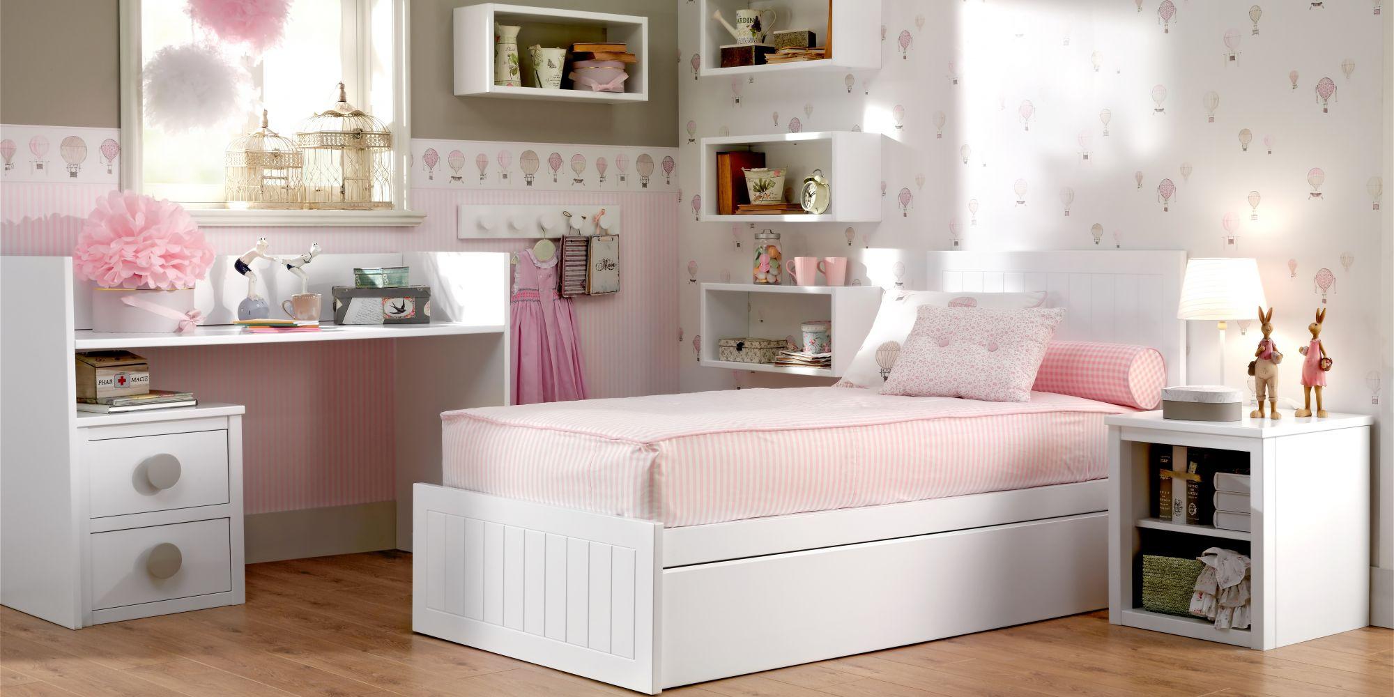 Convertible desmontado, que incluye zona de almacenaje, descanso y estudio en un mismo mueble | Mueble Infantil