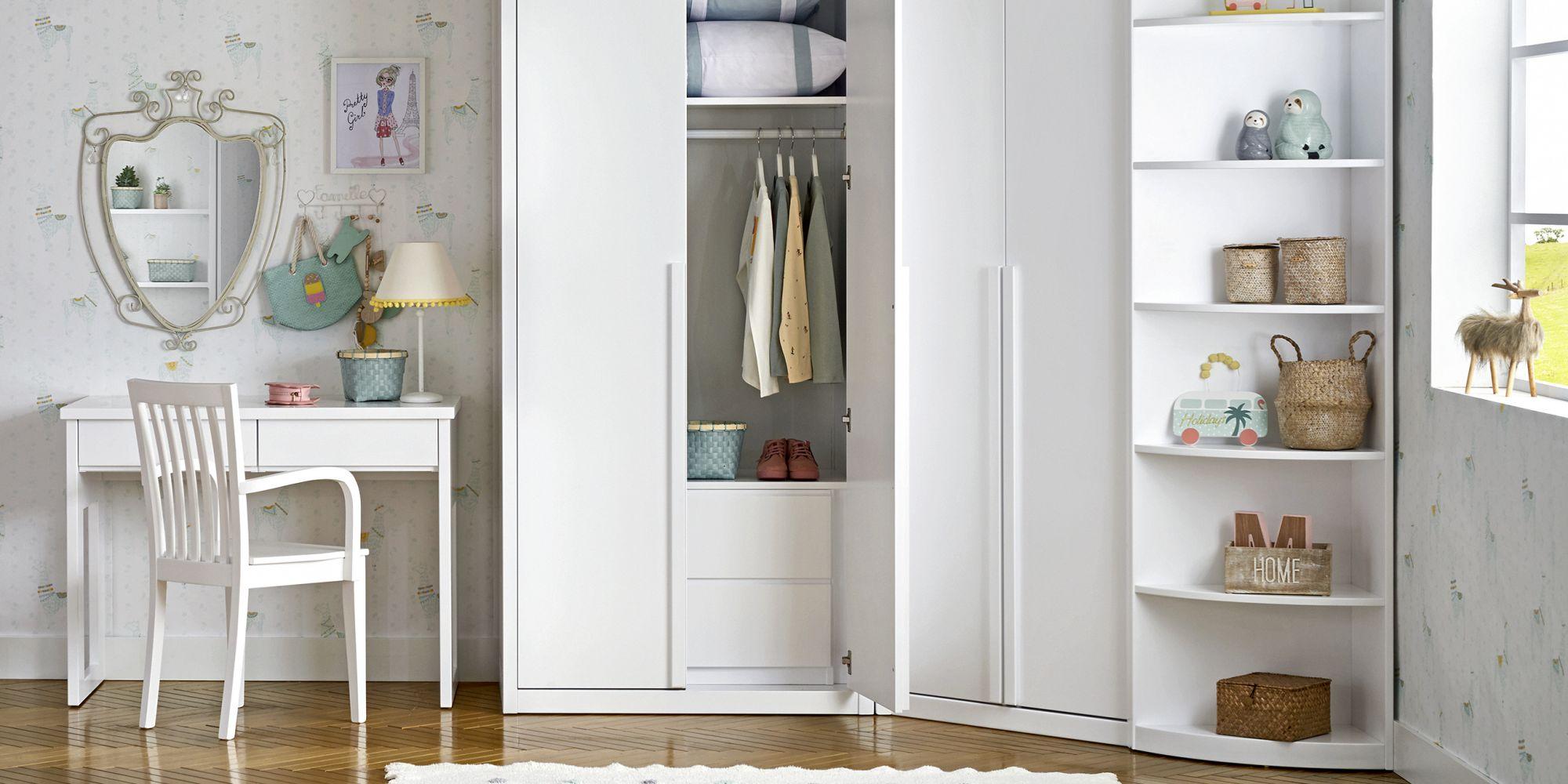 Habitacion con vestidor y armario de rincon
