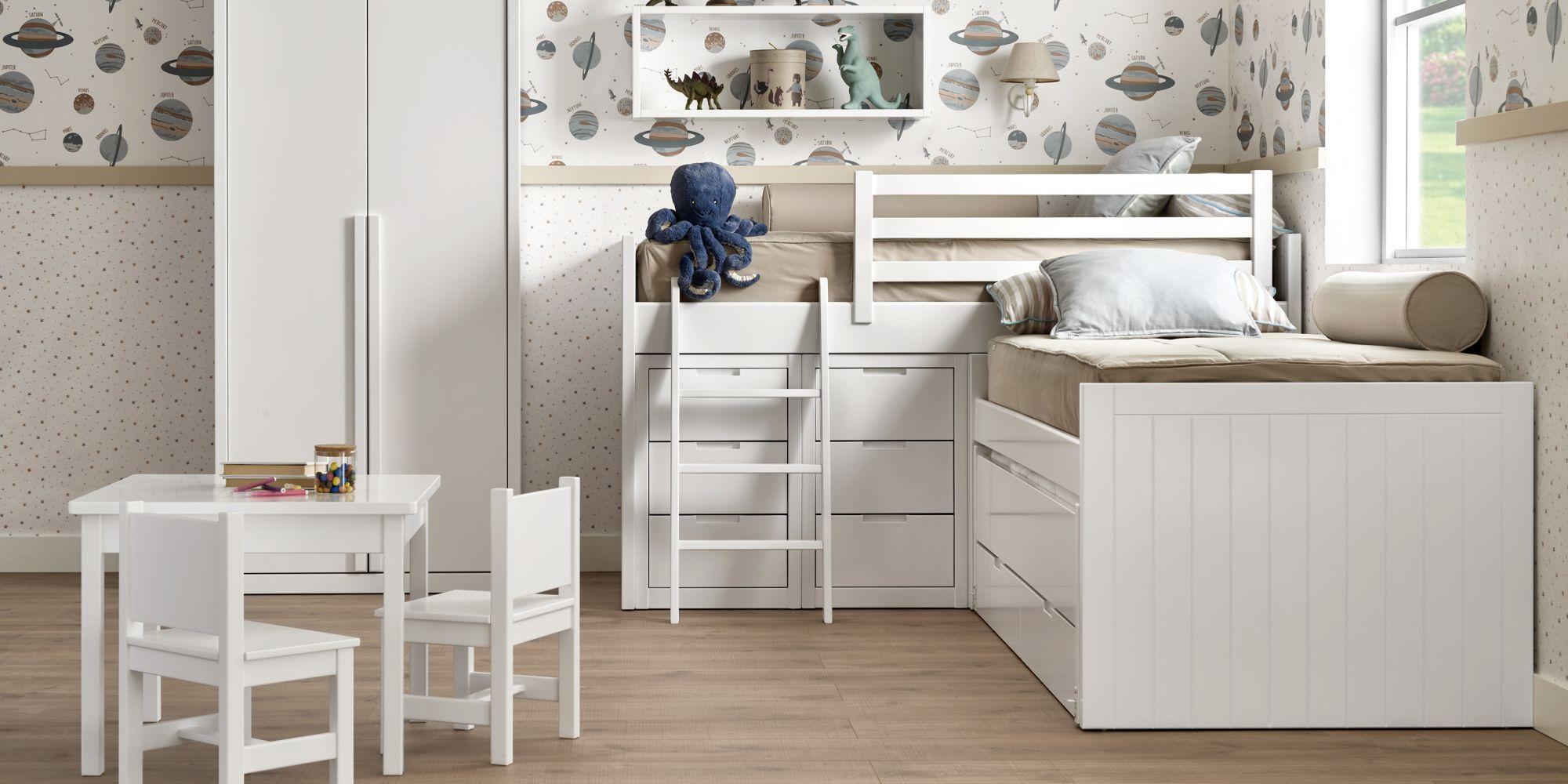 Habitacion dos niños con cama y armario