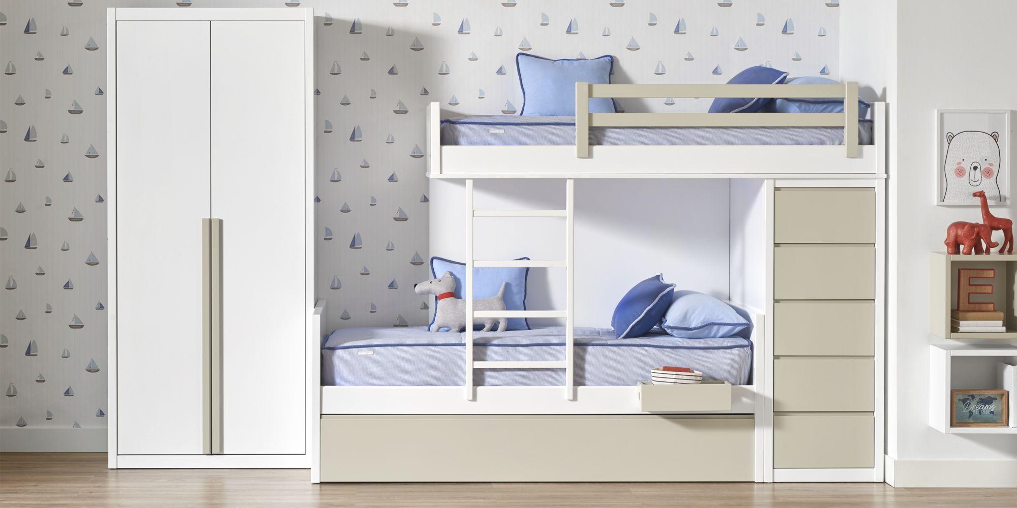 Habitacion niño almacenaje litera