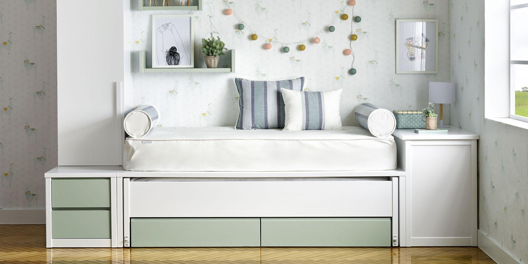 Habitacion para niños con cama y escritorio extensible