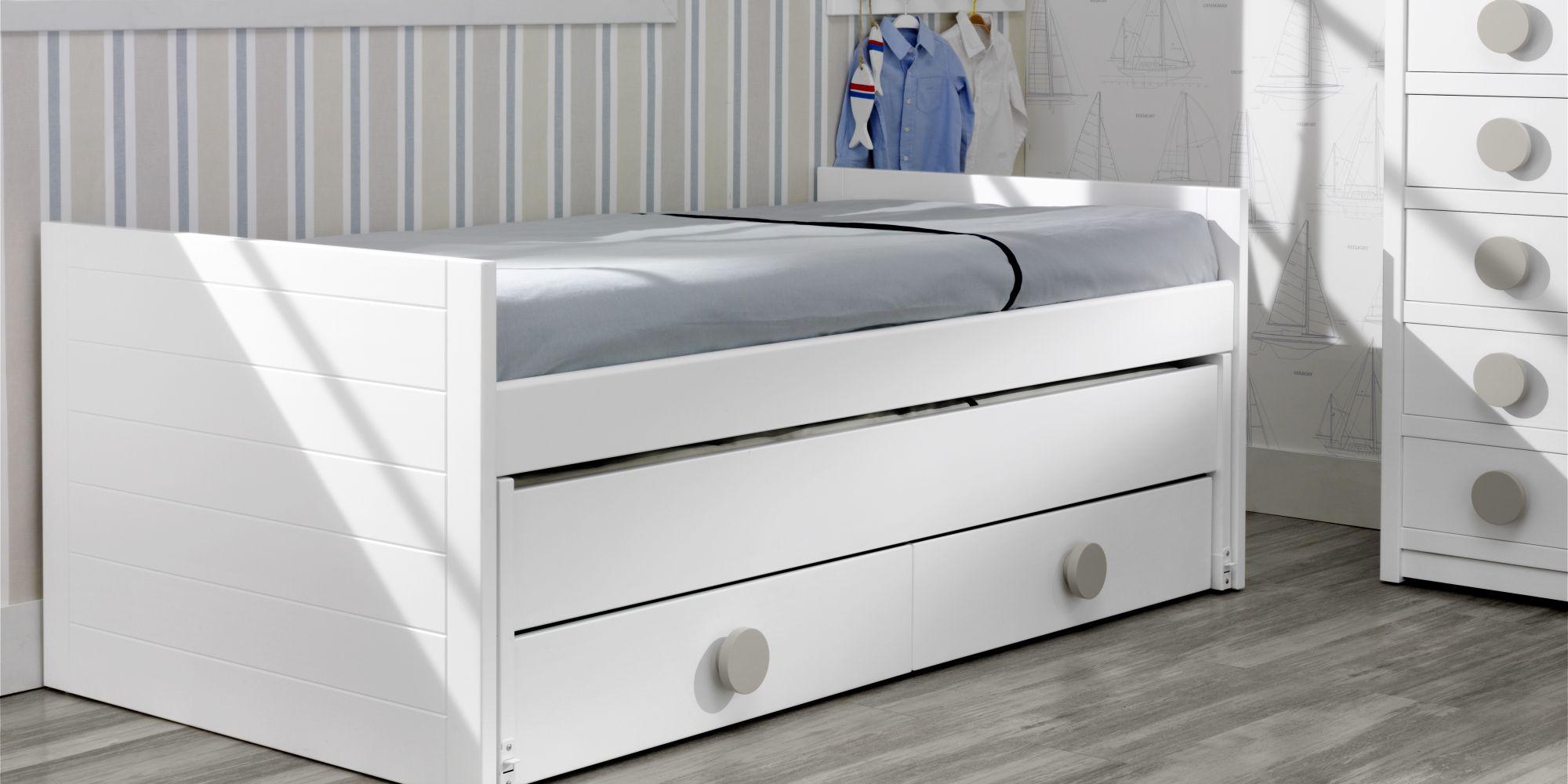 cama nido de dos camas con cajones inferiores