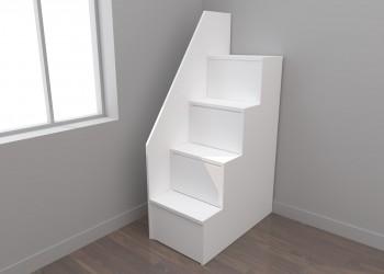 Escalera cajones 4 peldaños con pasamanos (40 cm)