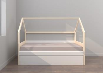 Cama nido Montessori con arrastre somier de 190x90
