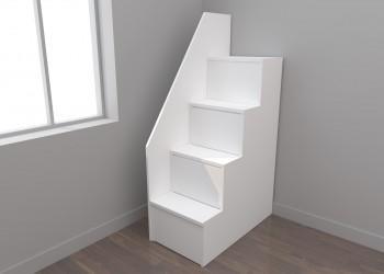 Escalera cajones 4 peldaños con pasamanos (50 cm)