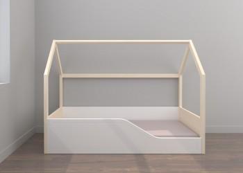 Cama Montessori con plafón somier 140x70