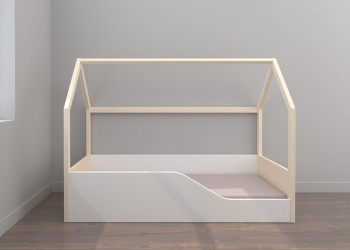Cama Montessori con plafón somier 190x90