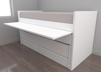 omando con escritorio extraíble nido móvil somier 190x90 y 180x90