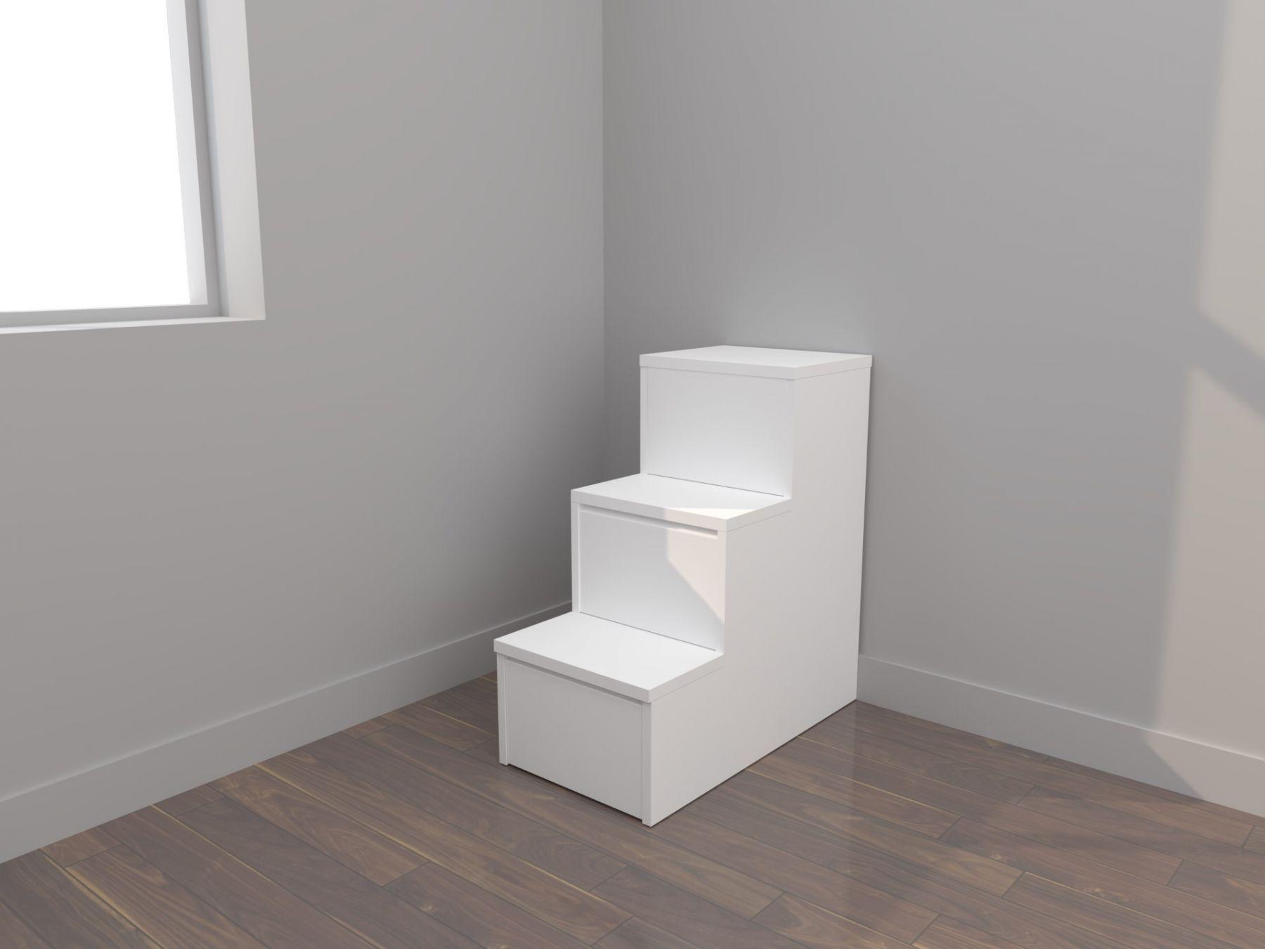 Escalera con cajones para camas y literas. Habitación infantil y juvenil