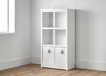 Librería con dos cajones color blanco