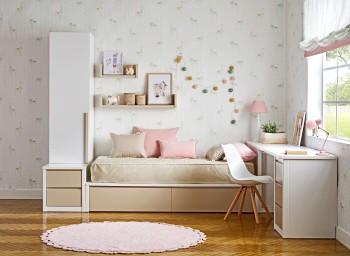 Habitación juvenil tatami, cajonera, armario y escritorio